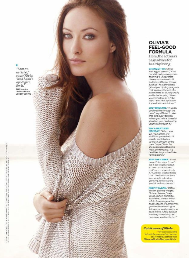 Olivia Wilde article in Women's Health Magazine