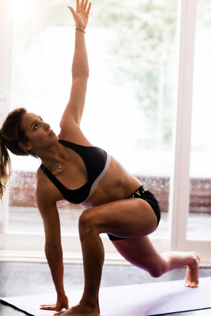 Yoga Position: Low lunge with a twist
