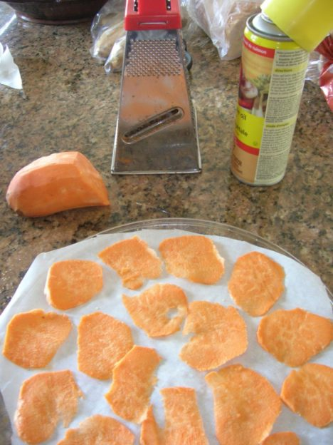 Sweet Potato Chips in the Microwave-1 Point Weight Watchers Recipe