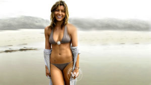jessica biel flaunting her abs