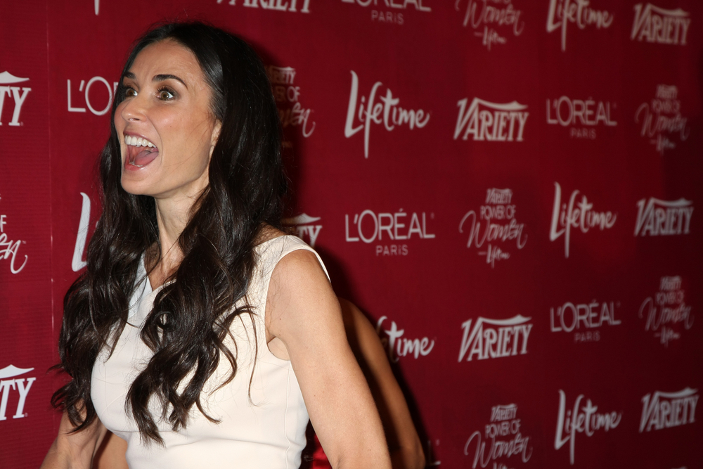 Demi Moore arriving at the Variety's Power of Women Luncheon at Beverly Wilshire Hotel